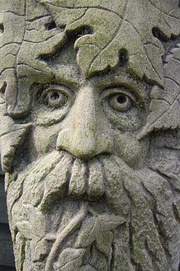 """Greenman"" or ""Wildman"" stone carving from England"