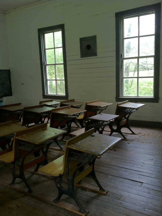 Photo by Daniel Manget. Beech Grove School, Big Cataloochee, NC.