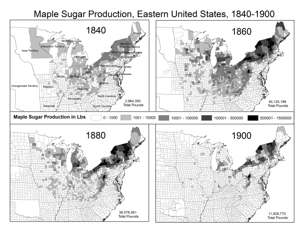 Maple Sugar Production 1840-1900